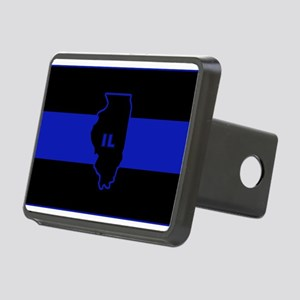 Thin Blue Line Illinois Hitch Cover