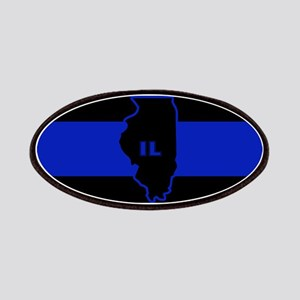 Thin Blue Line Illinois Patches