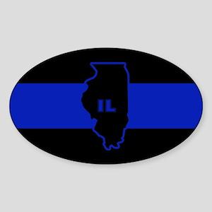 Thin Blue Line Illinois Sticker