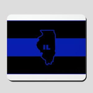 Thin Blue Line Illinois Mousepad