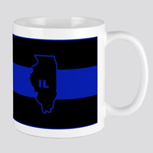 Thin Blue Line Illinois Mug
