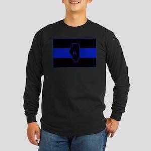 Thin Blue Line Illinois Long Sleeve T-Shirt
