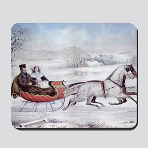 The Road Winter Mousepad
