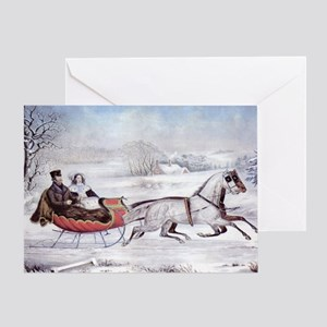 The Road Winter Greeting Card