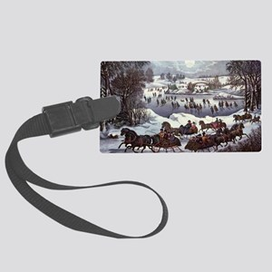 Central Park in Winter Large Luggage Tag