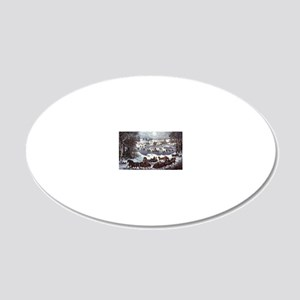 Central Park in Winter 20x12 Oval Wall Decal