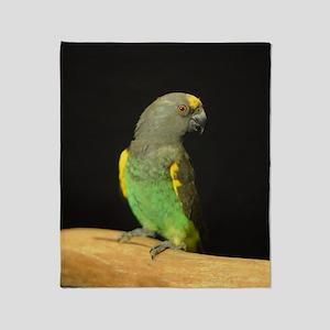 myers parrot Throw Blanket