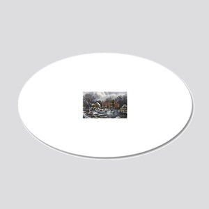 Early Winter 20x12 Oval Wall Decal