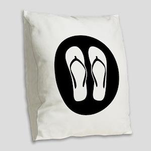Chillax Burlap Throw Pillow