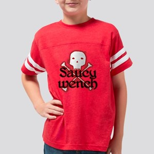 saucywenchtrans Youth Football Shirt