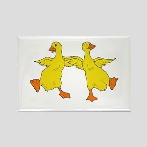 Dancing Ducks Rectangle Magnet
