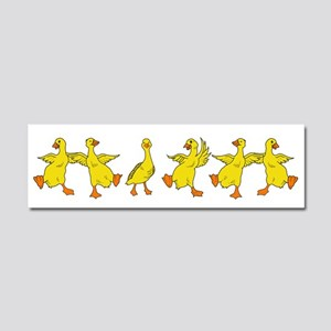Dancing Ducks Car Magnet 10 x 3