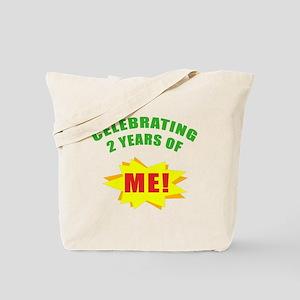 Celebrating Me! 2nd Birthday Tote Bag