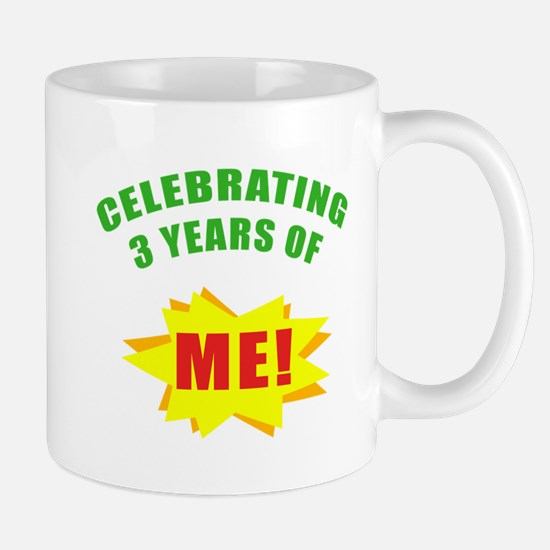 Celebrating Me! 3rd Birthday Mug