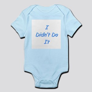I didn't do it baby onsie in choice of colors.