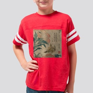 Hokusai Peony and Canary 1 Youth Football Shirt