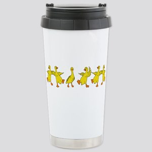 Dancing Ducks Stainless Steel Travel Mug