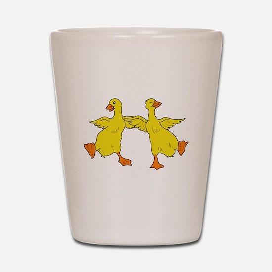 Dancing Ducks Shot Glass