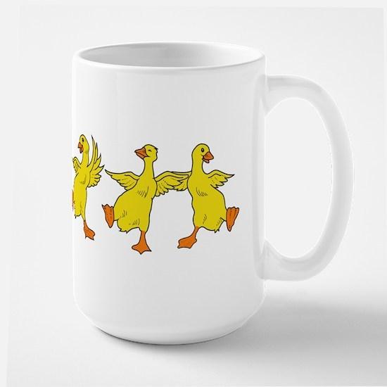 Dancing Ducks Large Mug