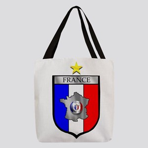 French Football Shield Polyester Tote Bag