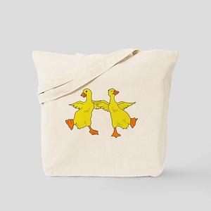 Dancing Ducks Tote Bag