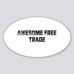 Awesome Free Trade Oval Sticker