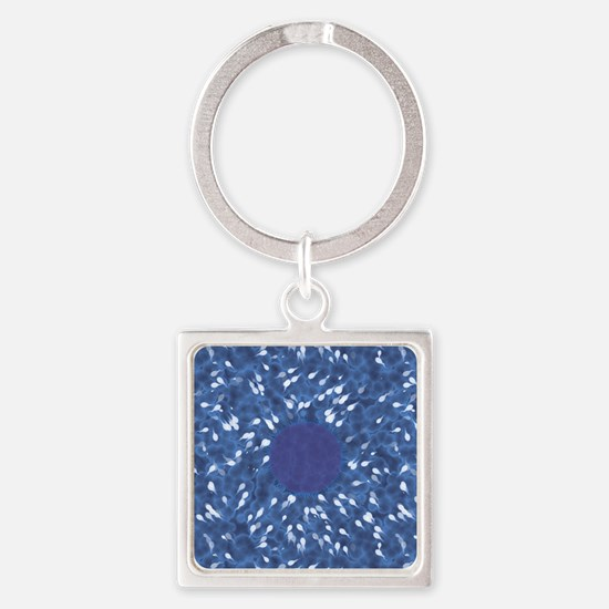 Little Swimmers - Blue Square Keychain