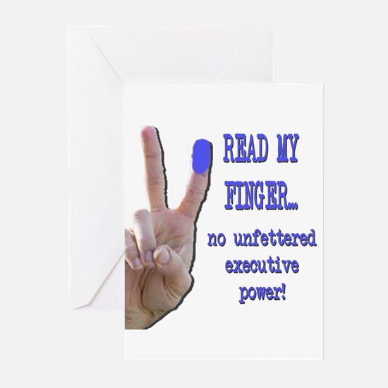 Read my finger (executive) Greeting Cards (Package