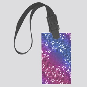Little Swimmers - Blue/Pink Large Luggage Tag