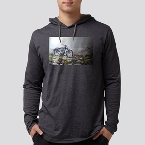 motorcycle Mens Hooded Shirt