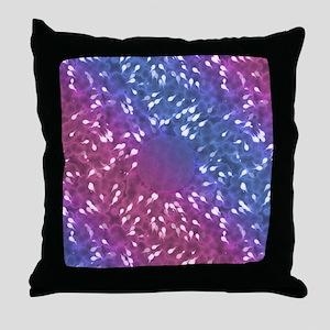 Little Swimmers - Blue/Pink Throw Pillow