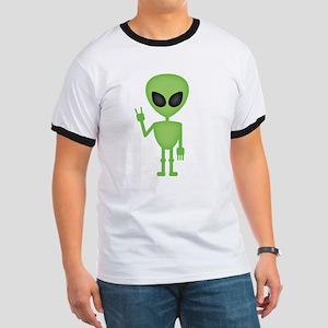 Aliens Rock Ringer T