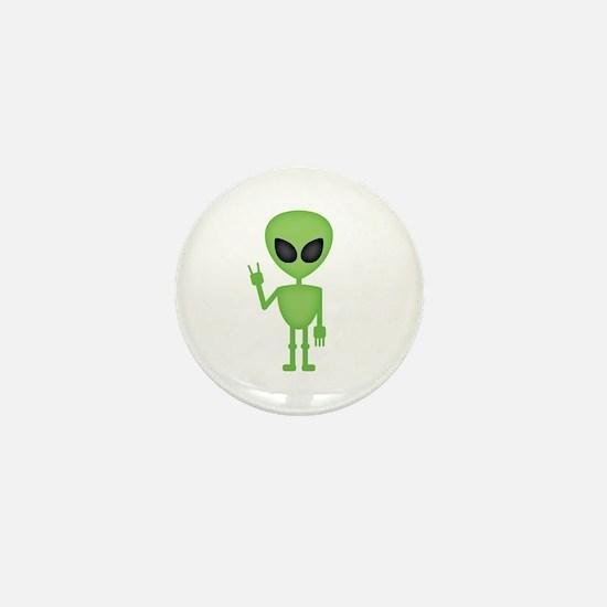 Aliens Rock Mini Button