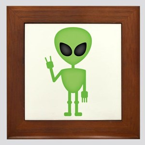 Aliens Rock Framed Tile