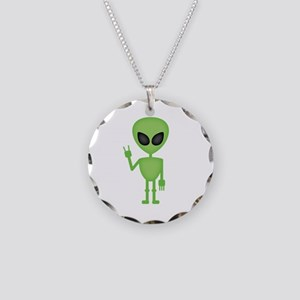 Aliens Rock Necklace Circle Charm