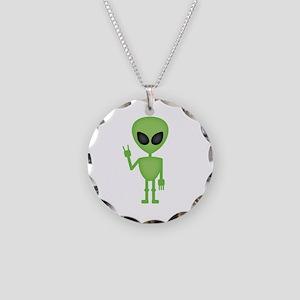 Aliens Rock Necklace Circle Charm