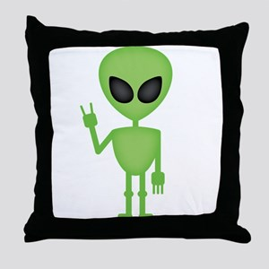 Aliens Rock Throw Pillow