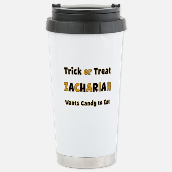 Zachariah Trick or Treat Stainless Steel Travel Mu