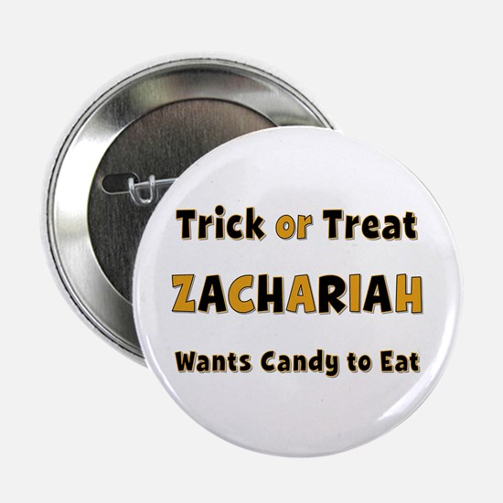 Zachariah Trick or Treat Button