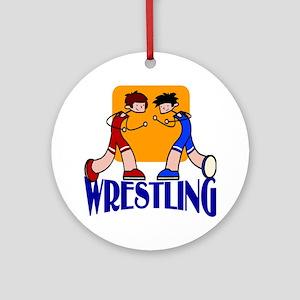 Wrestling Ornament (Round)