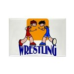 Wrestling Rectangle Magnet