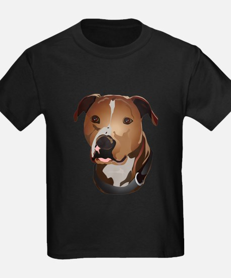 Pitbull head portrait T-Shirt