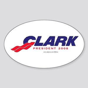"""Prez Clark"" Oval Sticker"