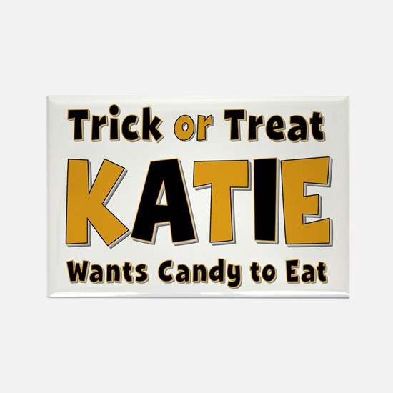 Katie Trick or Treat Rectangle Magnet
