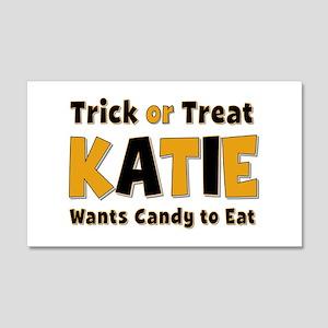 Katie Trick or Treat 20x12 Wall Peel