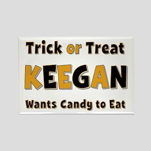 Keegan Trick or Treat Rectangle Magnet
