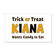 Kiana Trick or Treat 20x12 Wall Peel