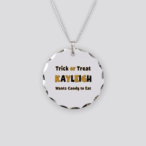 Kayleigh Trick or Treat Necklace Circle Charm