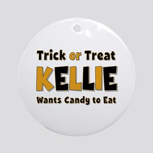 Kellie Trick or Treat Round Ornament