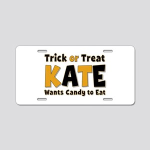 Kate Trick or Treat Aluminum License Plate